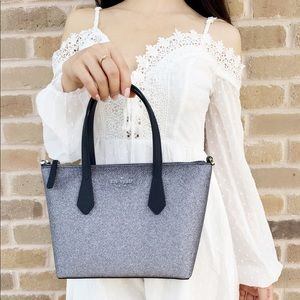 ‼️SALE‼️ Kate Spade blue glitter satchel crossbody